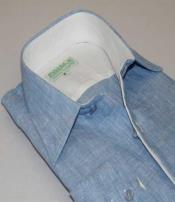 Inserch Mens Linen Button