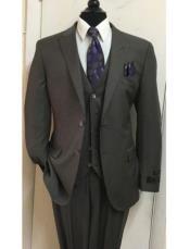 JSM-1577 Mens Tiglio Lux Taupe Brown 3 Piece Suit
