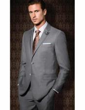 JSM-1581 Mens Tiglio 2 Button Grey Slim Fit Single
