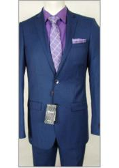 JSM-1830 Tiglio Slim Fit Wool Dress French Blue Suit