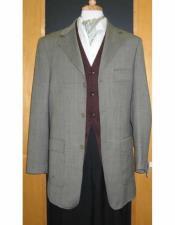 JSM-1836 Testardi Brand Grey 3 Buttons 95% Wool5% Cashmere