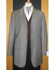 Buttons Checker Pattern Gray Sport Jacket Blazer Coat