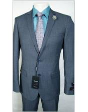 JSM-1839 Tiglio Slim Fit Dress Wool Blue Birdseye Suit
