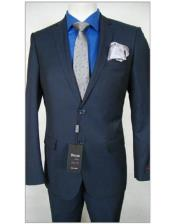 JSM-1841 Tiglio Slim Fit Dress Navy Birdseye Suit