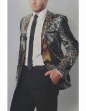 Mens Blazer Camouflage Tuxedo