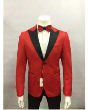 Red and Black Lapel