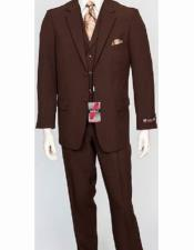 JSM-2125 Mens Poly Poplin Notch Lapel 3 Piece Single