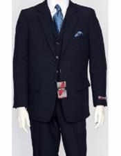 JSM-2128 Mens 3 Piece Regular Fit Poly Poplin Notch