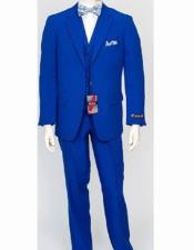 JSM-2136 Mens 3 Piece Poly Poplin Notch Lapel Matching