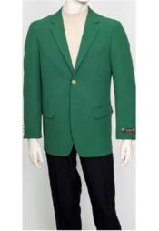 JSM-2167 Mens Pacelli Classic Green Blazer Jacket Blair