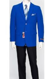 JSM-2168 Mens Pacelli Classic Royal Blue Blazer Jacket
