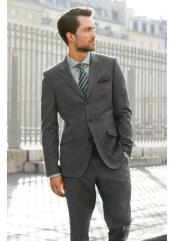 Men's Charcoal Blue Suit