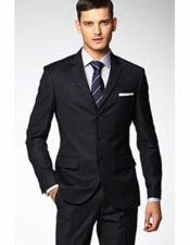 JSM-2324 Mens 3 Button Fitted Slim Fit Wool Suit