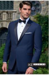 """JSM-2339 """"Evening Peak"""" Navy 1-Button Peak 1920s Tuxedo Style"""
