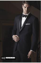 """JSM-2340 """"Braydon"""" Ike Behar Black Tuxedo Jacket"""