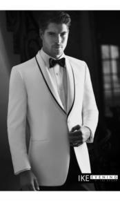 "JSM-2372 ""Waverly"" 1-Button Shawl White Tuxedo"