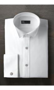 "JSM-2373 ""Mitchell"" White Wingtip Tuxedo Shirt"