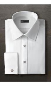 JSM-2378 Evan Laydown White Tuxedo Shirt