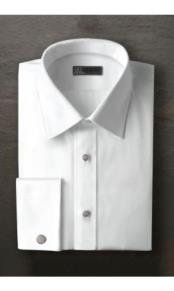 JSM-2380 Logan Laydown White Tuxedo Shirt