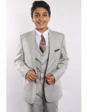 JSM-2385 Boys 1 Button Shawl Lapel With Shirt Tie
