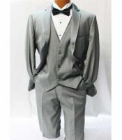 JSM-2524 Giorgio Fiorelli Grey ~ Gray Vested Tuxedo Suit