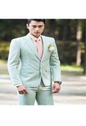 Ber_357_96 Mens Mint Green (Very Light Sage ) Slim