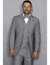 JSM-2598 Mens Statement Italian Style Wool Notch Lapel 3