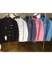 Mens Black/White/Charcoal/Pink/Blue Linen Double