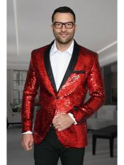 JSM-2701 Mens Unique Shiny Fashion Prom Sequin Paisley Blazer