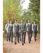 JSM-2857 Groomsmen Package Grey ~ Gray Deal Vest &