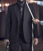 JSM-2961 Mens Keanu Reeves John Wick Black 3 Piece
