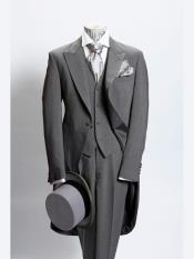 JSM-3229 Mens Light Grey 1 Button Prince Of Wales