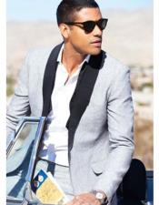 JSM-3832 Mens Linen Fabric tuxedos Suit Available in Black