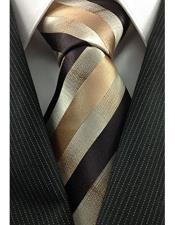 JSM-3996 Mens Necktie Woven Natural Gradient Gold Bronze Unique