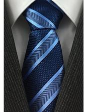 JSM-4065 Mens Navy and Baby Blue Standard Necktie Pearl