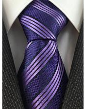 JSM-4086 Mens Necktie Textured Stripe Woven Purple Fashion Tie