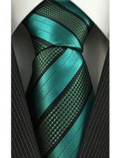 JSM-4088 Mens Necktie with Textured Stripe Woven Green Fashion