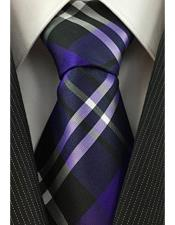 Mens Plaid Pattern Necktie