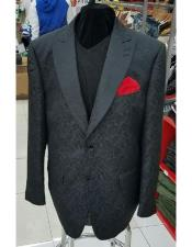 Black Single Breasted Lanzino Blazer