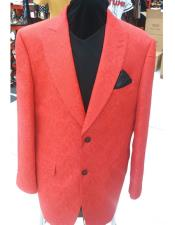 Red Single Breasted Lanzino Blazer