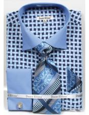 JSM-4228 Mens Daniel Ellissa Blue Bright Net Pattern Two