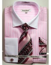JSM-4240 Mens Daniel Ellissa Pink Stripe Pattern Two Tone