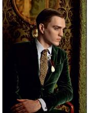 JSM-4259 Mens Olive ~ Hunter Green Velvet Blazer ~