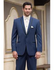 JSM-4389 Mens High Fashion Two Buttons Satin Notch Lapel