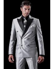 Mens Shiny Sharkskin Flashy