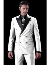 JSM-4402 Mens Double Breasted 1920s Style Tuxedo Two Toned