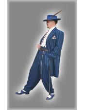 JSM-4433 Mens High Fashion Vested Blue & Bold Pronounce
