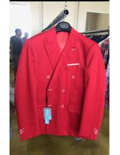JSM-4511 Mens Cotton Fabric Double breasted suit Red