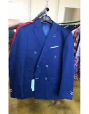 JSM-4512 Mens Cotton Fabric Double breasted Navy suit