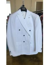 JSM-4515 Mens Cotton Fabric White Double breasted suit